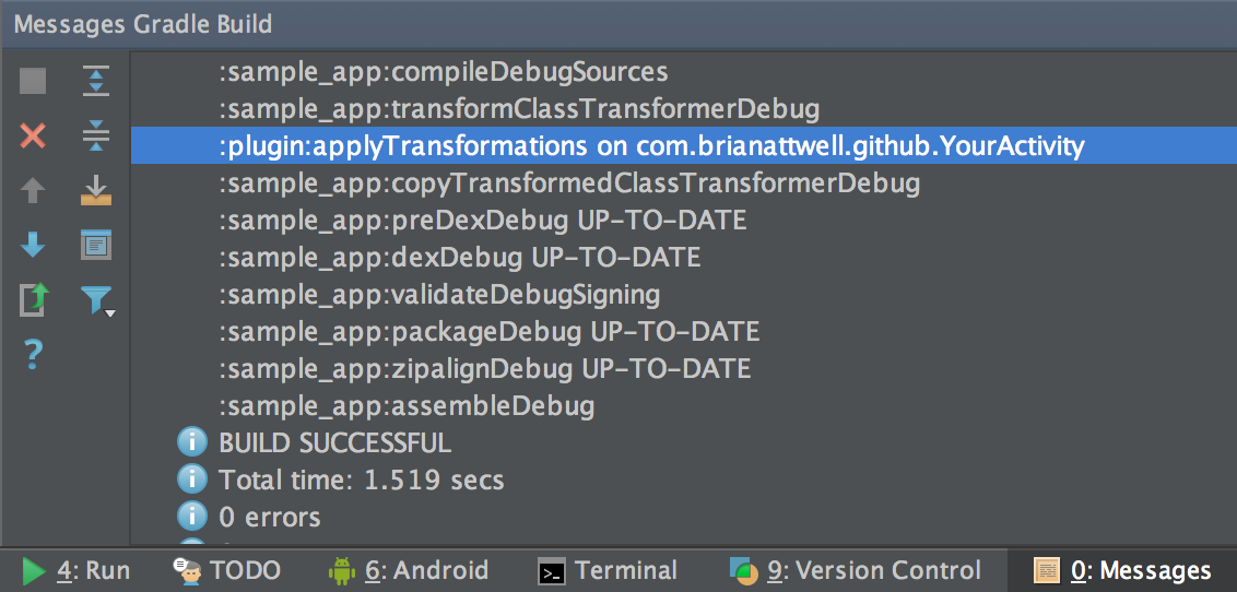 gradle build messages image